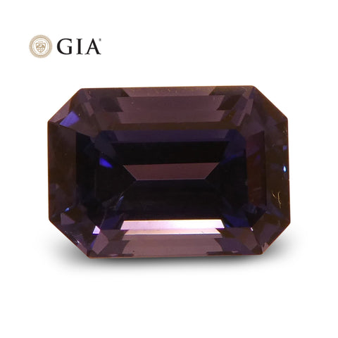 1.64 ct Color Change Sapphire Octagonal GIA Certified Unheated, Sri Lanka