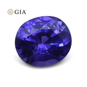 1.73 ct Purple Sapphire Oval GIA Certified Unheated, Sri Lanka - Skyjems Wholesale Gemstones
