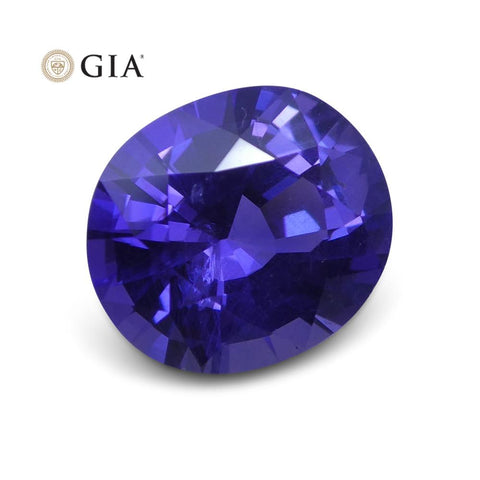 1.73 ct Purple Sapphire Oval GIA Certified Unheated, Sri Lanka