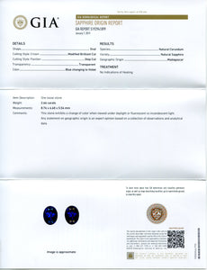 Color Change Sapphire 2.66 cts 8.76x6.60x5.54mm Oval Blue changing to Violet  $5054