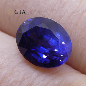 2.30 ct Vivid Color Change Sapphire Oval GIA Certified Unheated, Burmese - Skyjems Wholesale Gemstones