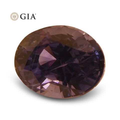 1.69 ct Color Change Sapphire Oval GIA Certified Unheated, Sri Lanka