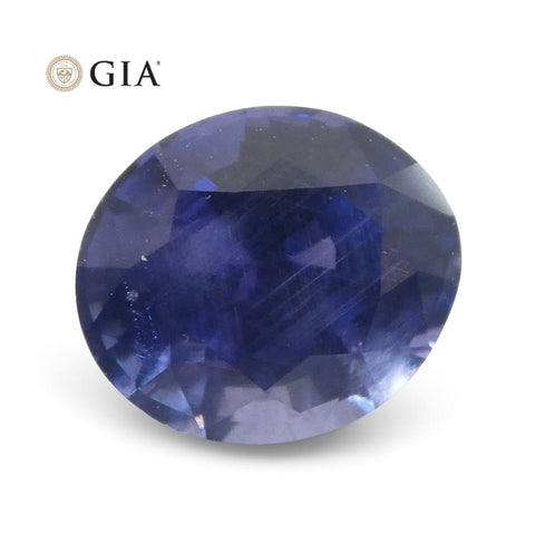 1.22ct Color Change Sapphire Oval GIA Certified Unheated, Sri Lanka, Vivid Violetish Blue to Purple