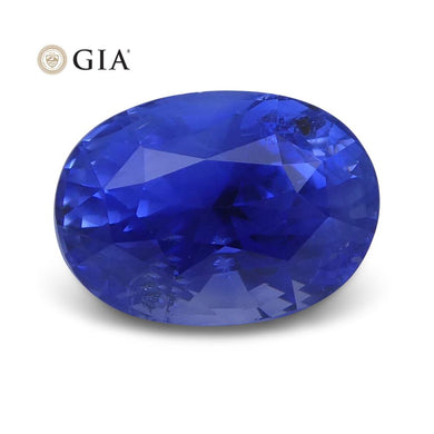 3.33 ct Blue Sapphire Oval GIA Certified Unheated, Sri Lanka - Skyjems Wholesale Gemstones