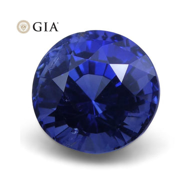 1.65 ct Blue Sapphire Round GIA Certified Unheated - Skyjems Wholesale Gemstones