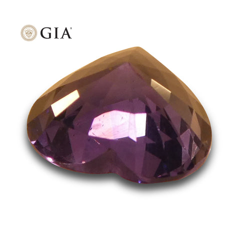 1.46 ct Color Change Sapphire Heart GIA Certified Unheated, Sri Lanka