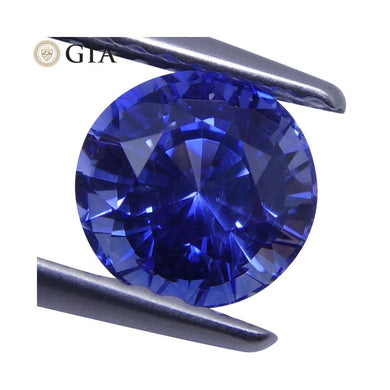 1.41 ct Blue Sapphire Round GIA Certified Sri Lanka - Skyjems Wholesale Gemstones