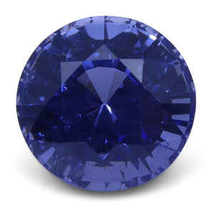 Blue Sapphire 1.62 cts 6.59x6.47x4.90mm Round Violetish Blue  $1749.6