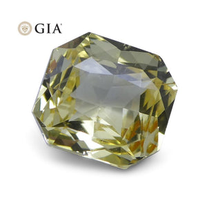 1.73 ct Yellow Sapphire Octagonal GIA Certified Unheated, Sri Lanka - Skyjems Wholesale Gemstones