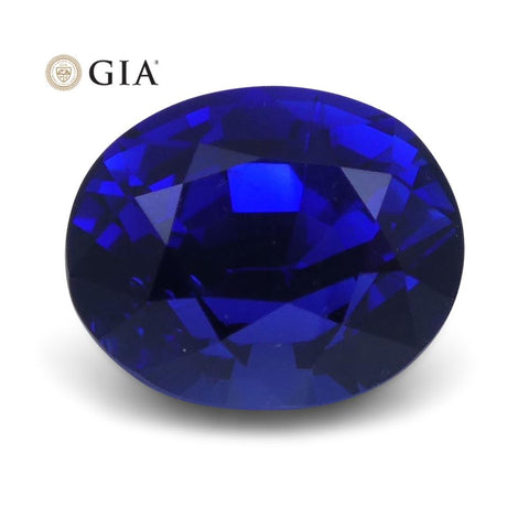 1.29 ct Vivid Blue Sapphire Oval GIA Certified Unheated