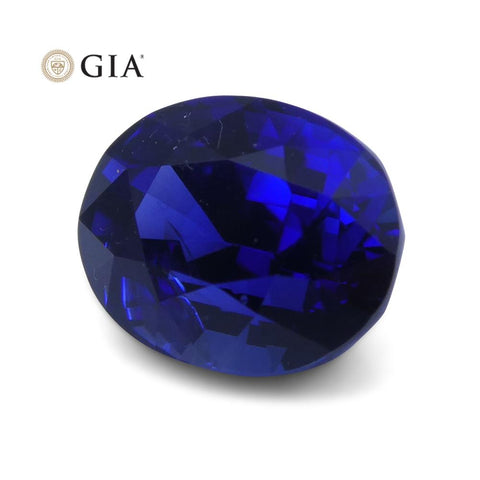 Vivid Royal Blue 1.29ct Oval Sapphire GIA Certified Unheated