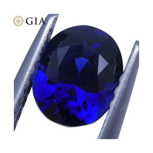 1.29 ct Vivid Blue Sapphire Oval GIA Certified Unheated - Skyjems Wholesale Gemstones