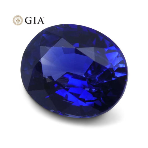 1.25 ct Vivid Blue Sapphire Oval GIA Certified