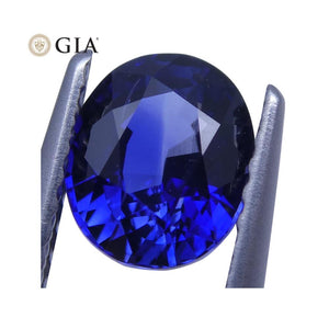 1.25 ct Vivid Blue Sapphire Oval GIA Certified - Skyjems Wholesale Gemstones
