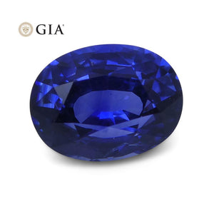 1.22 ct Blue Sapphire Oval GIA Certified Unheated - Skyjems Wholesale Gemstones