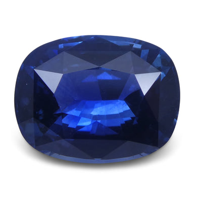 4.03 ct Blue Sapphire Cushion GIA Certified