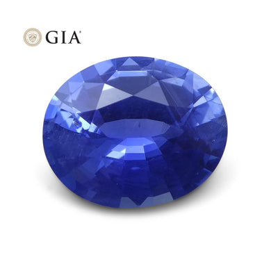 1.29 ct Blue Sapphire Oval GIA Certified Unheated, Sri Lanka - Skyjems Wholesale Gemstones