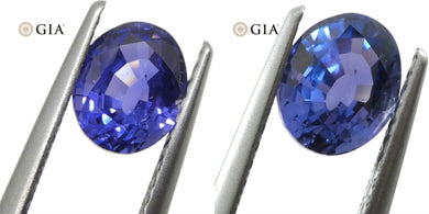 1.40ct Color Change Sapphire Oval GIA Certified Unheated, Sri Lanka, Violetish Blue to Purple