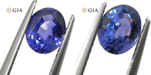 1.40ct Color Change Sapphire Oval GIA Certified Unheated, Sri Lanka, Violetish Blue to Purple - Skyjems Wholesale Gemstones