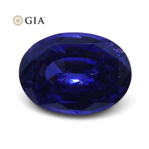 4.51 ct Color Change Sapphire Oval GIA Certified Sri Lanka - Skyjems Wholesale Gemstones
