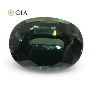 1.11ct Oval Teal Blue Sapphire GIA Certified Australian Unheated - Skyjems Wholesale Gemstones