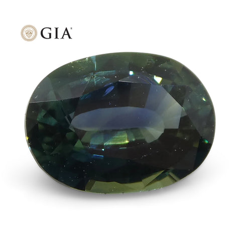 0.93ct Oval Teal Blue Sapphire GIA Certified Australian