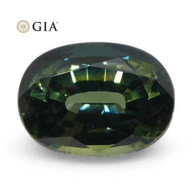 1.12ct Oval Teal Blue Sapphire GIA Certified Australian Unheated - Skyjems Wholesale Gemstones