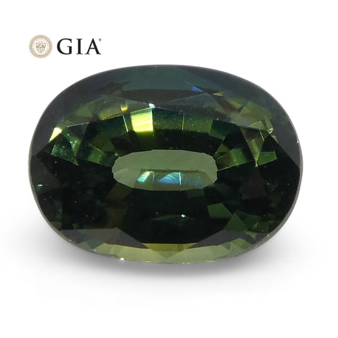1.12ct Oval Teal Blue Sapphire GIA Certified Australian Unheated