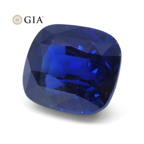 8.04 ct Cushion Sapphire GIA Certified Ethiopian Unheated with Inscription