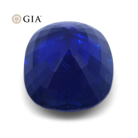 5.86 ct Cushion Sapphire GIA Certified Ethiopian Unheated with Inscription