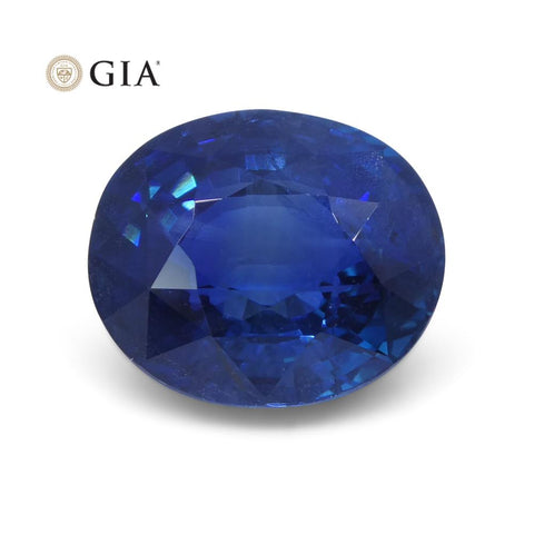 6.07 ct Oval Sapphire GIA Certified Ethiopian Unheated with Inscription