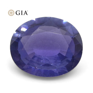 Color Change Sapphire 1.31 cts 7.79 x 6.55 x 2.91 mm Oval Violet changing to Purple  $1080