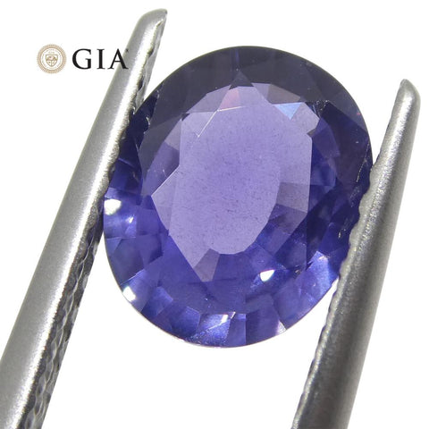 1.31ct Oval Color Change Sapphire GIA Certified Burma (Myanmar) Unheated, Violet to Purple