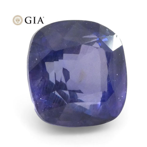 2.13ct Cushion Color Change Sapphire GIA Certified Sri Lankan Unheated, Violet to Purple