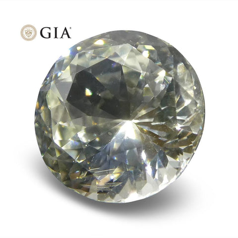 1.62 ct Round White Sapphire GIA Certified