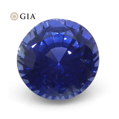 1.46 ct Round Blue Sapphire GIA Certified Sri Lanka - Skyjems Wholesale Gemstones