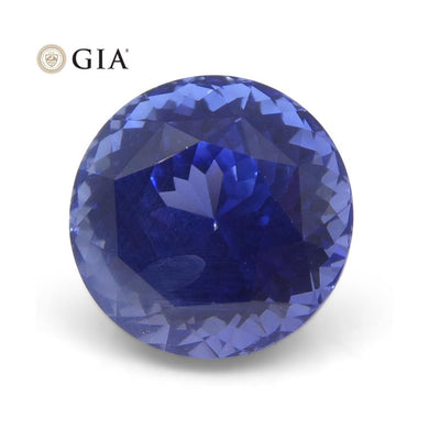 3.87 ct Round Blue Sapphire GIA Certified Unheated Sri Lanka with Inscription