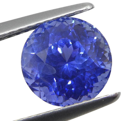 3.87 ct Round Blue Sapphire GIA Certified Unheated Sri Lanka with Inscription - Skyjems Wholesale Gemstones