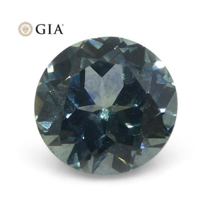 1.15 ct Round Teal Blue GIA Certified Montana Sapphire (American Blue) - Skyjems Wholesale Gemstones