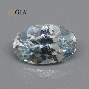 1.37ct Oval Light Blue Sapphire GIA Certified Montana Sapphire (American Blue) Unheated - Skyjems Wholesale Gemstones