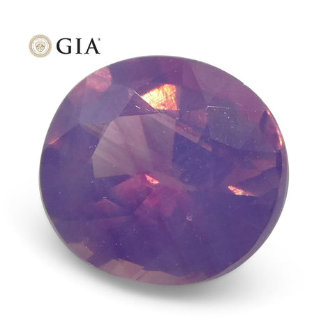 1.11ct Oval Purple-Pink Sapphire GIA Certified Pakistan / Kashmir Unheated