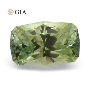 2.21ct Cushion Green Sapphire GIA Certified Montana Sapphire Unheated - Skyjems Wholesale Gemstones