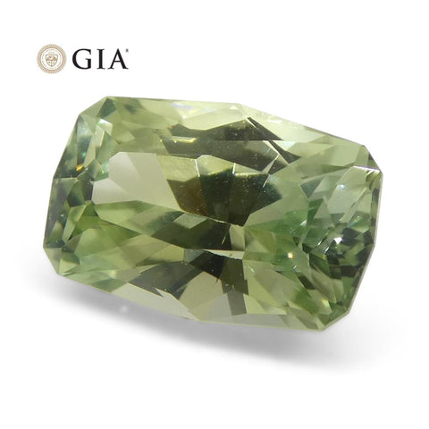 2.21ct Precision Cut Bright Green Sapphire GIA Certified Montana Unheated