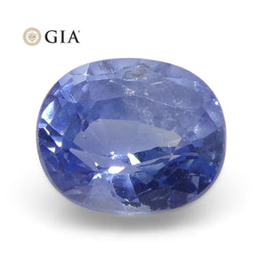 0.81ct Oval Blue Sapphire GIA Certified Kashmir Unheated
