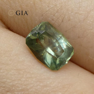 1.87ct Cushion Green Sapphire GIA Certified Montana Sapphire Unheated - Skyjems Wholesale Gemstones