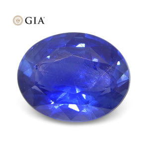 1.38ct Oval Blue Sapphire GIA Certified Burma (Myanmar) Unheated - Skyjems Wholesale Gemstones
