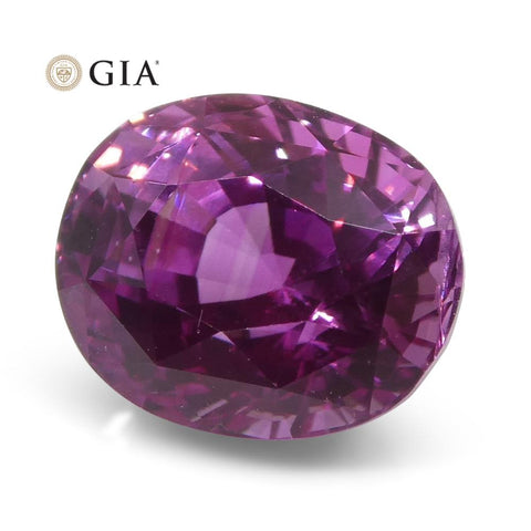 1.85ct Oval Vivid Intense Pink Sapphire GIA Certified Madagascar