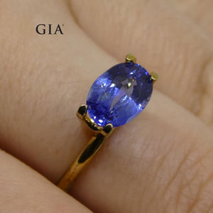 1.66ct Oval Blue Sapphire GIA Certified Madagascar Unheated - Skyjems Wholesale Gemstones