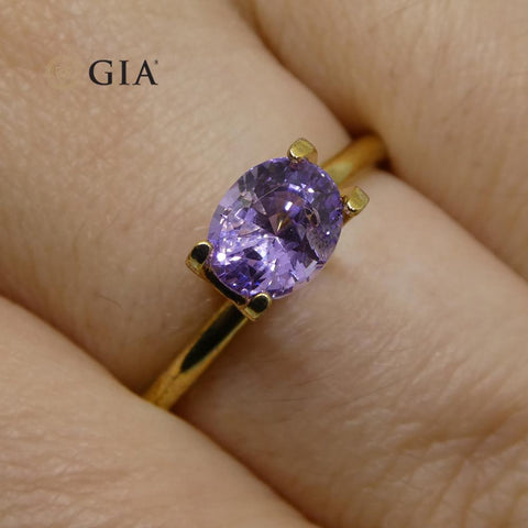 1.5ct Oval Pinkish Purple Sapphire GIA Certified Sri Lanka Unheated