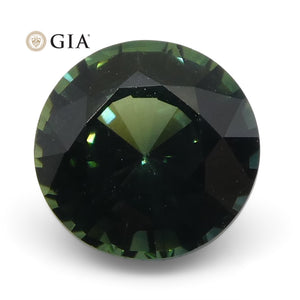 1.12ct Round Teal Blue Sapphire GIA Certified Unheated - Skyjems Wholesale Gemstones